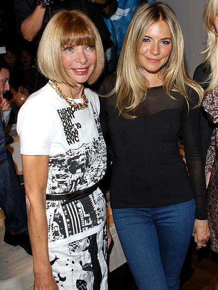 sienna miller fashion. anna-wintour-and-sienna-miller