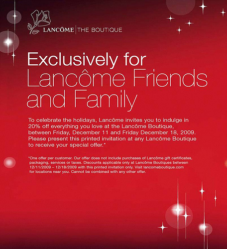 Lancome friends and family 20 discount nadine jolie courtney lancome friends and family 20 discount stopboris Images