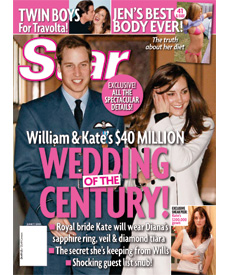 William and Kate Star Magazine $40 Million Wedding Details