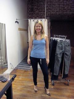 Nadine Jolie in J Brand jeans