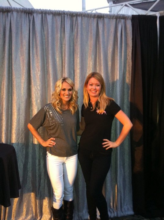 Carrie Underwood Jeans. With Carrie before the show!