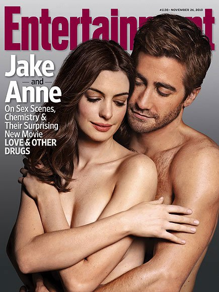 Jake Gyllenhaal and Anne Hathaway Get Naked for Entertainment Weekly