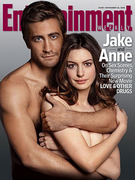 Jake Gyllenhaal and Anne Hathaway's new movie Love and Other Drugs.