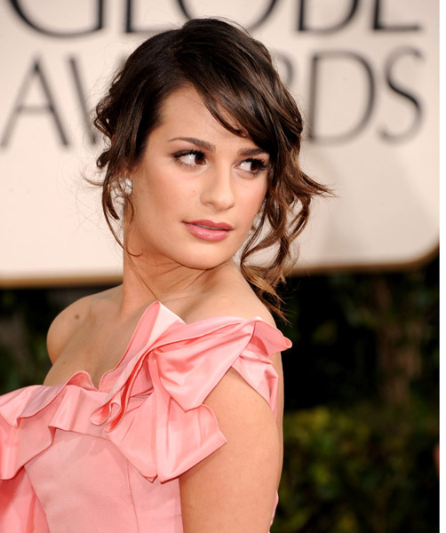 Lea-Michele-Golden-Globes-makeup