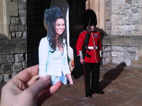 Flat Kate at the Tower of London