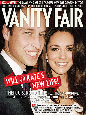 Vanity Fair cover with Prince William and Kate Middleton, Catherine The Duchess of Cambridge