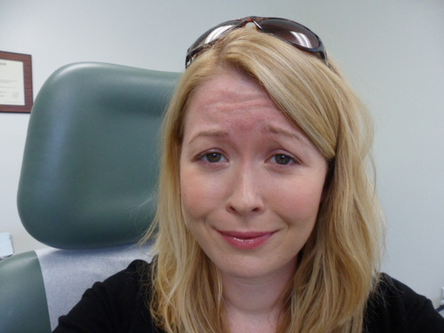 Taking silly pre-Botox photos of myself in Dr. Jessica Wu's office