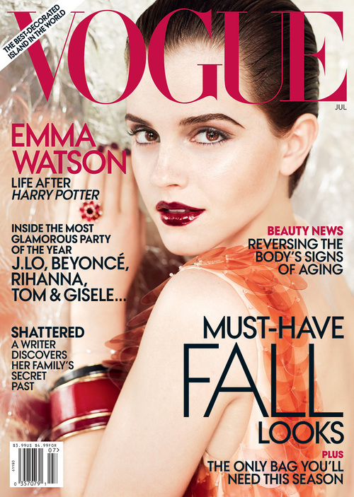emma watson vogue cover. Emma Watson on the cover of