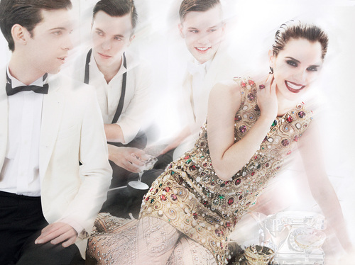 emma watson vogue shoot. Emma wears Dolce and Gabbana