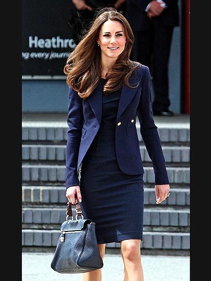 Kate Middleton wears a blue jacket in Canada