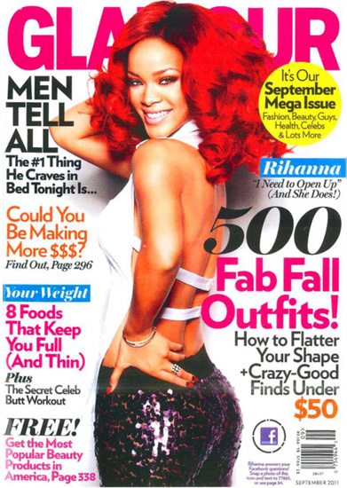 Rihanna on Glamour's September 2011 cover