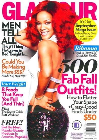 Rihanna on Glamour's September 2011 cover