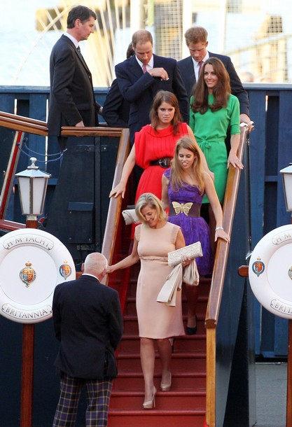 The young royals at Zara Phillips wedding on royal yacht Britannia