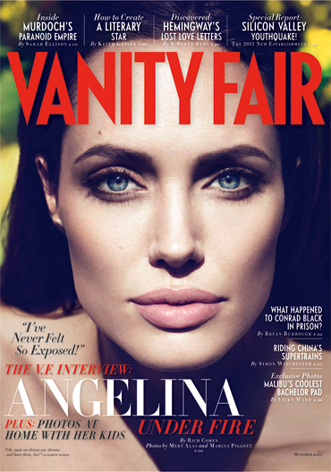 Angelina Jolie on the cover of the October 2011 Vanity Fair