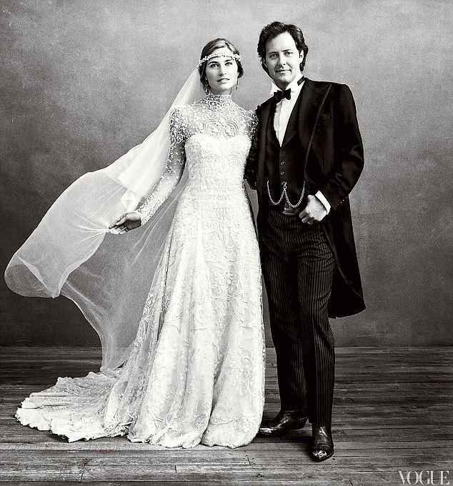 Lauren Bush and David Lauren wedding photo