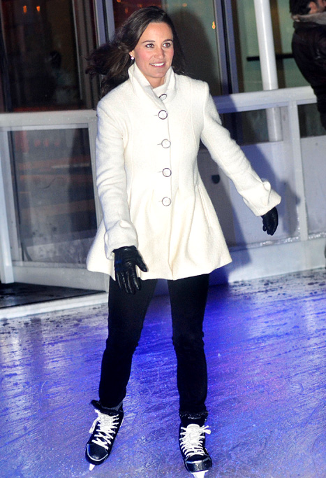 Pippa Middleton ice-skating