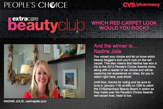 People's Choice Awards 2012 with CVS Beauty Club