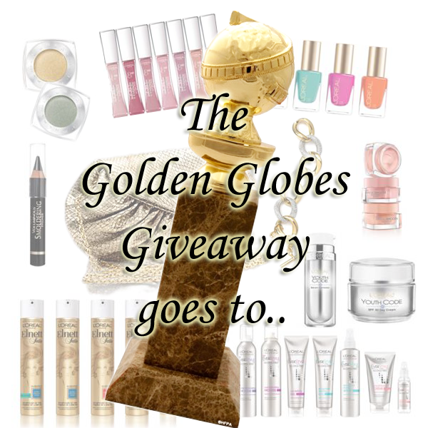 L'Oreal Golden Globes Giveaway Winner