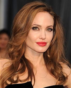 Angelina Jolie hair and makeup Academy Awards 2012