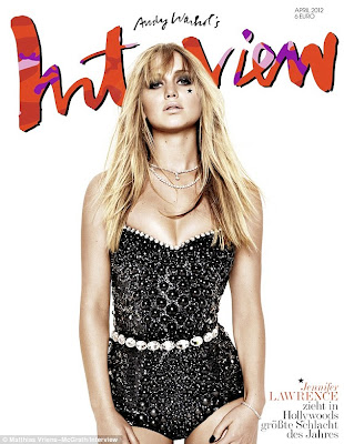 Jennifer Lawrence on cover of Interview magazine