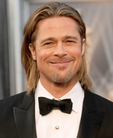 Brad Pitt at the 2012 Oscars, where he was nominated for Moneyball