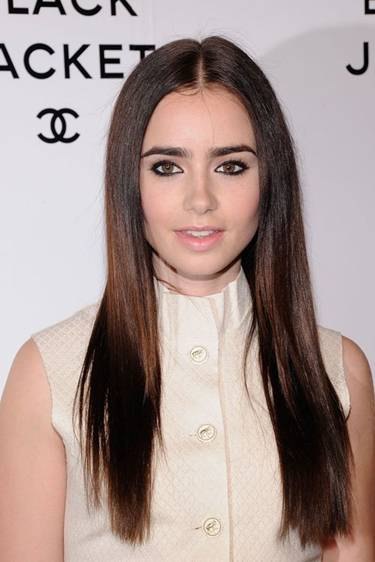 lily collins chanel show