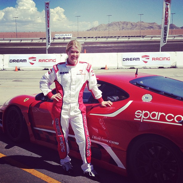 Nadine-Jolie-racing-Ferraris