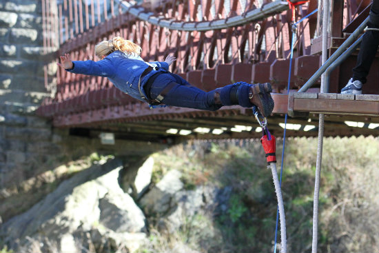 The Kawarau Bungy Jump in Queenstown