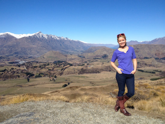 Nadine Jolie in Queenstown, New Zealand