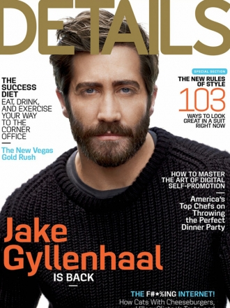Jak Gyllenhaal graces the cover of Details September issue