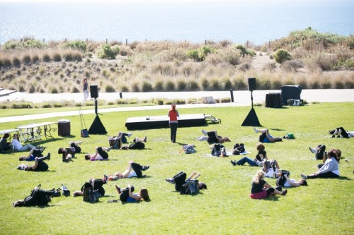 Seaside fitness classes by Les Mills