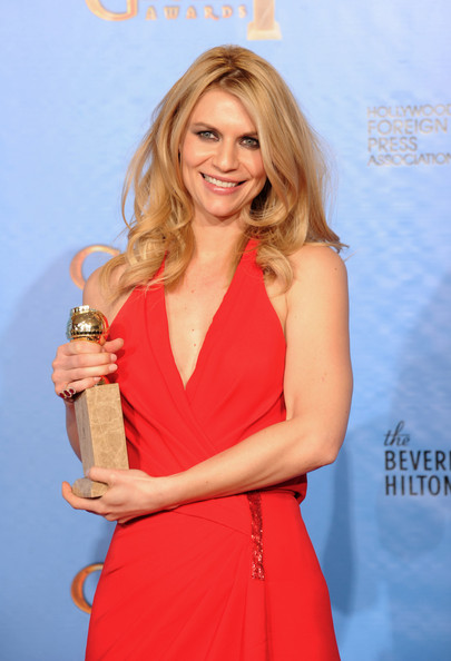 Claire Danes makeup how to from the Golden Globes