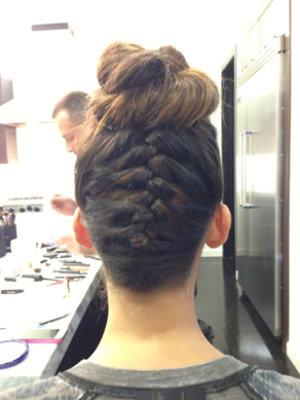 Nina Dobrev's braided updo (Image: Riawna Capri)