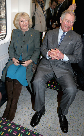 Prince Charles rides the London Tube