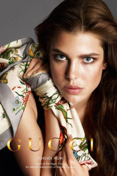 Charlotte Casiraghi in the new Gucci campaign