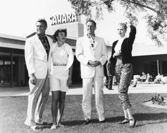 Cary Grant, Grace Kelly and Bing Crosby at the Sahara hotel in Las Vegas