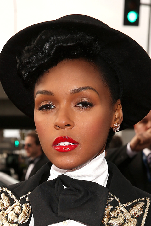 Janelle Monae's Makeup by COVERGIRL at the 2013 GRAMMY Awards
