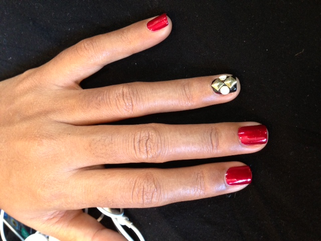 Janelle Monae's Nail by COVERGIRL at the 2013 GRAMMY Awards