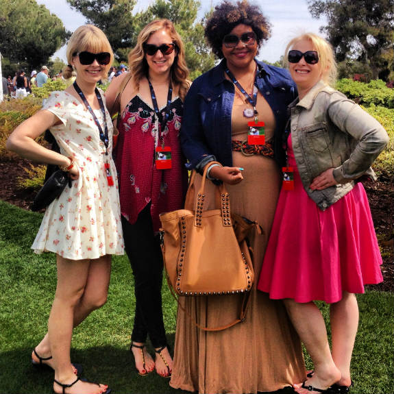 Nadine Jolie, Aly Walansky, Amber Katz and Patrice Yursik at the Michael Jordan Celebrity Invitational Golf Tournament