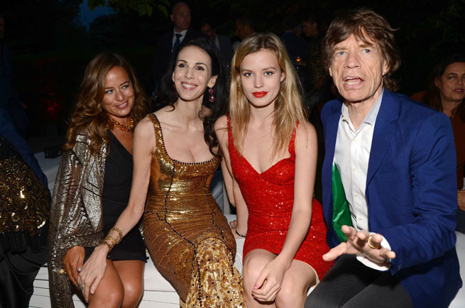 Mick-Jagger-L-Wren-Scott-Georgia-May-Jade-Serpentine