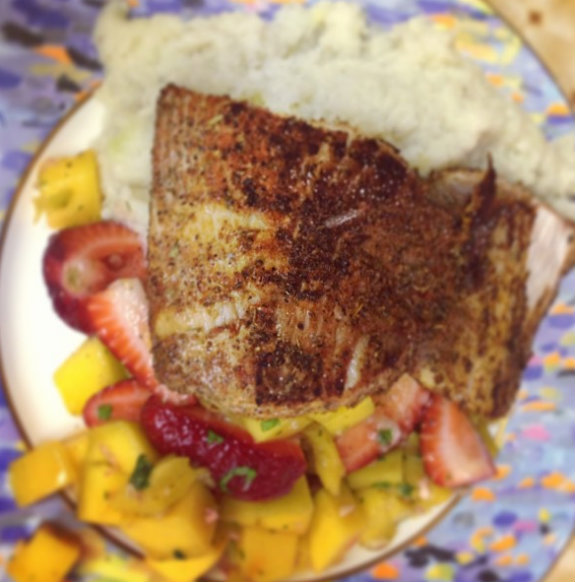 Yummy dinner: Blackened Mahi Mahi with Strawberry Mango Salsa | Nadine ...