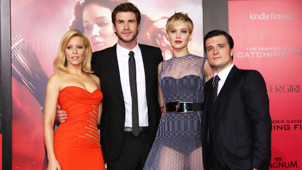 Elizabeth Banks, Liam Hemsworth, Jennifer Lawrence, Josh Hutcherson