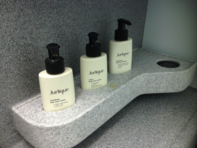 Jurlique products on Cathay Pacific