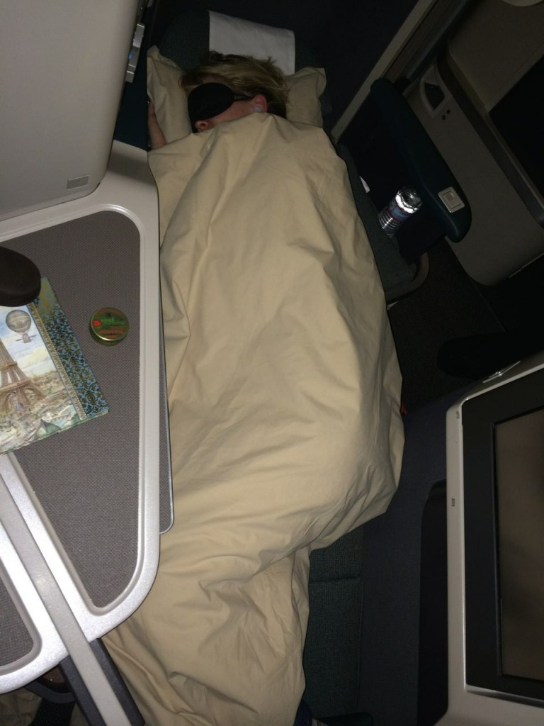 Cathay Pacific Business Class fully-flat beds