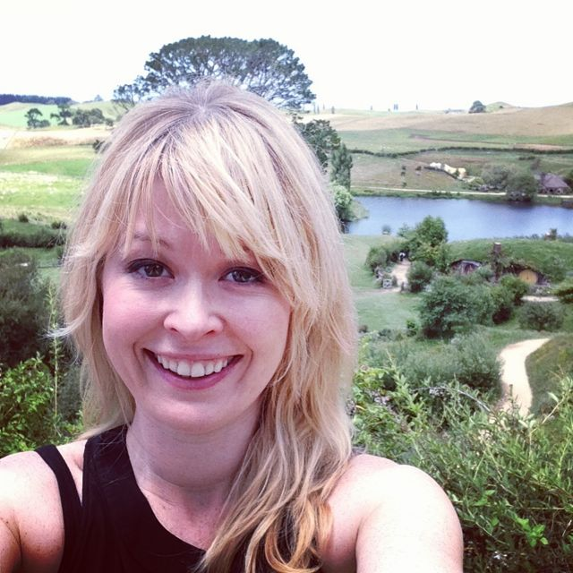 Nadine Jolie at Hobbiton in New Zealand