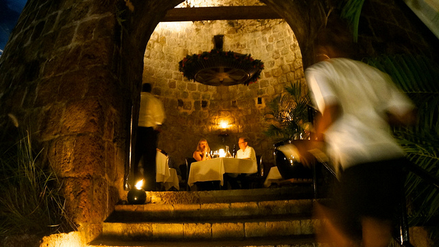 What to do in Nevis: eat at Mill Privee