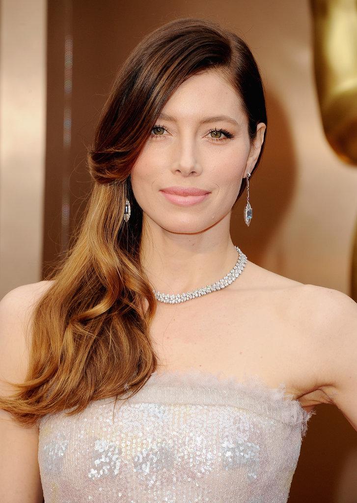 Jessica Biel Oscars 2014 makeup