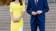 Duchess Kate Roksanda Ilincic yellow dress Sydney Australia