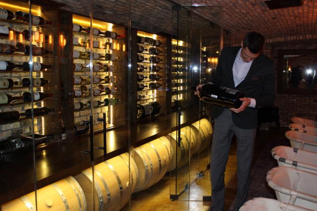 Rancho Valencia wine cellar