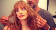 Jessica Chastain bangs hairstylist Renato Campora